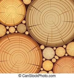 abstract wooden set background vector