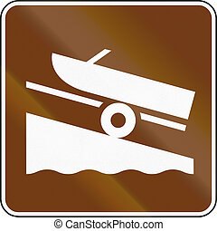 United States MUTCD guide road sign - Boat launch