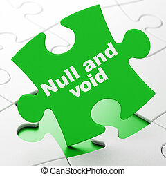 Law concept: Null And Void on puzzle background - Law...