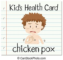 Health card with chicken pox illustration