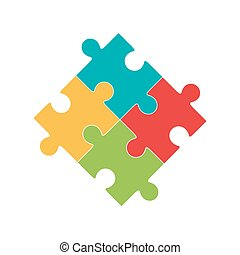 Colorful jigsaw puzzle pieces - Colorful jigsaw puzzle...