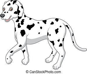 cartoon illustration of a Dalmatian - vector illustration of...