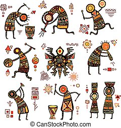 African ethnic patterns