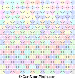 Jigsaw puzzle blank template 225 pieces