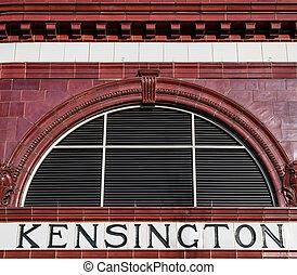 South Kensington Station - Victorian red tiled exterior...