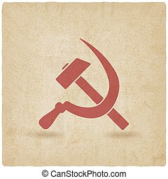 hammer and sickle symbol old background