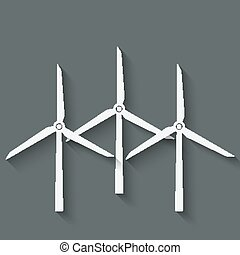 wind turbine symbol - vector illustration. eps 10