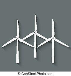 wind turbine symbol - vector illustration. eps 10