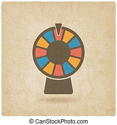 wheel of fortune old background. vector illustration - eps...