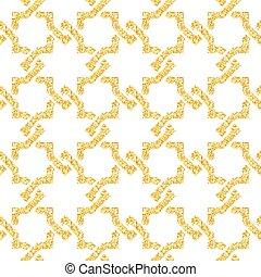 Golden seamless weave pattern