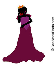 Evil Queen Silhouette Illustration - Evil queen illustration...