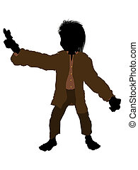 Dwarf Silhouette Illustration - Dwarf illustration...