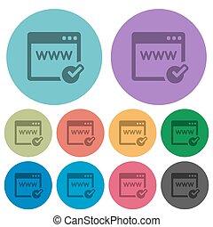Color domain registration flat icons - Color domain...