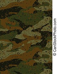 Khaki jungle mud camouflage repeat pattern