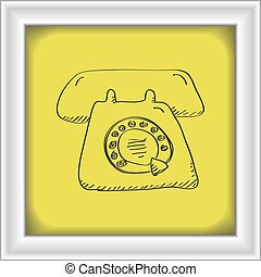 Simple doodle of a telephone