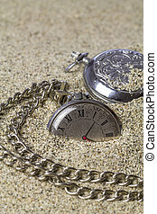 Old pocket watch - Several old of a pocket watch covered...