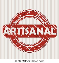 Grunge rubber stamp with ARTISANAL