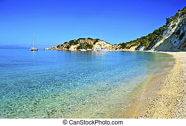 Gidaki beach in Ithaca Greece Ionian islands