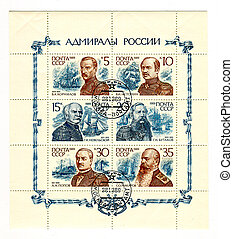 The Postage stamp - A stamp printed in USSR shows image of...