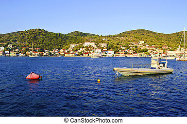 landscape of Vathy Ithaca Greece - Ionian islands Greece