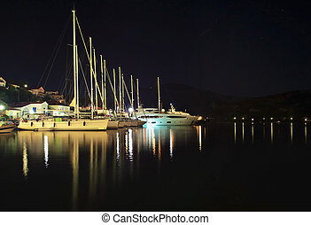 night photography Ithaca Greece - night photography of...