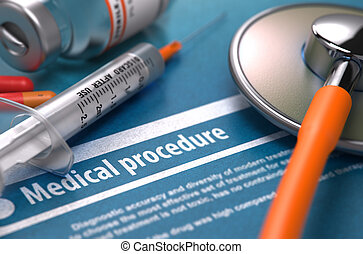 Medical Procedure on Blue Background. - Medical Procedure....