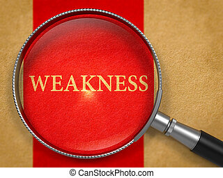Weakness through Loupe on Old Paper - Weakness through Loupe...