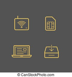 Mobile network operator icons - Wireless service provider...