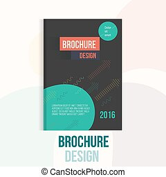 Modern Brochure  cover design template with abstract geometric linear shapes and arrows on dark background for your business.