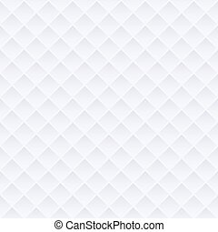 White abstract geometric background texture with rhombus, seamless