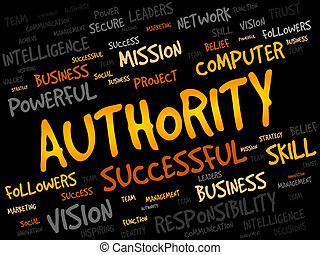 AUTHORITY word cloud, business concept