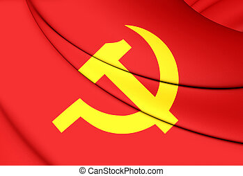 Communist Party of Vietnam Flag - 3D Communist Party of...
