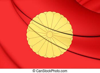 bandeira, de, japoneses, imperador,