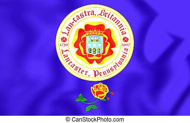 Flag of Lancaster Pennsylvania, USA - 3D Flag of Lancaster...