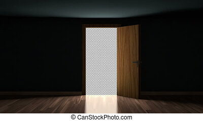 Door Opening with transparency alpha matte You can replace...