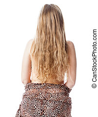 Back of woman