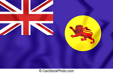 Flag of North Borneo - 3D Flag of North Borneo Close Up