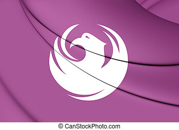 Flag of Phoenix Arizona, USA - 3D Flag of Phoenix Arizona,...