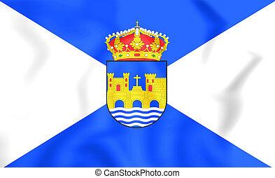 Flag of Pontevedra City, Spain. - 3D Flag of Pontevedra...