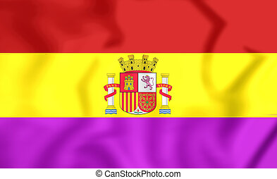 Flag of Second Spanish Republic - 3D Flag of the Second...