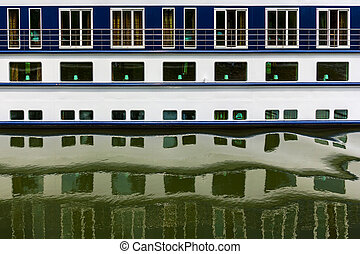 Ship windows and their reflections - Pattern of ship windows...