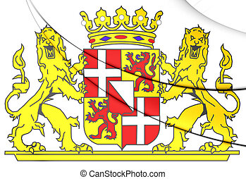 Utrecht Province Coat of Arms, Netherlands - 3D Utrecht...