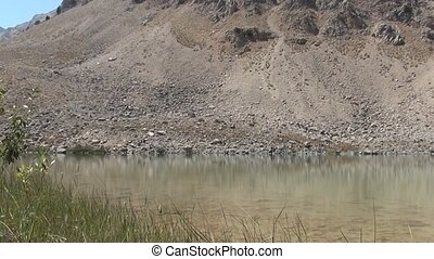 Reflection of crater lake - Astonishing smooth reflection of...