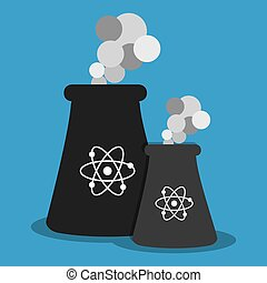 Nuclear energy plant graphic design, vector illustration...