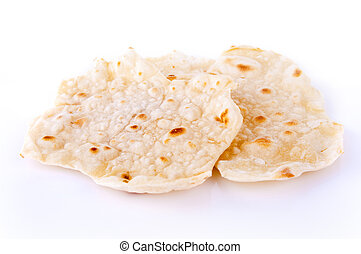 Chapatti or Indian Roti - Indian staple food made of wheat...