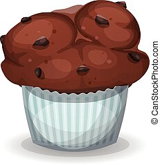 Classic American Muffin With Chocolate Chips
