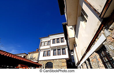 Old architecture of Ohrid, Macedona - Picture of an Old...