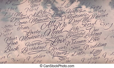 Romantic Calligraphic Titles Background - It can be used for...