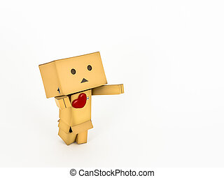 Danbo with outstretched arms - Adorable Danbo character...