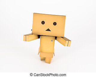 Danbo with outstretched arms - Cute Danbo character posing...
